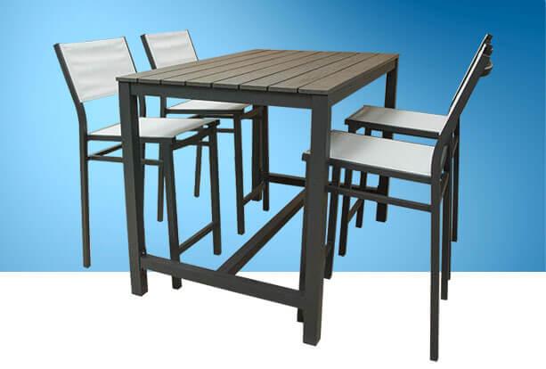 Garden furniture, patio and garden set by Piscines René Pitre