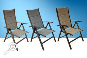 Claudia reclining chair by Piscines René Pitre