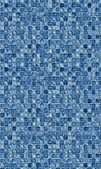 In-ground swimming pool liner Blue Mosaic