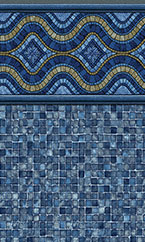 In-ground swimming pool liner Renegade Blue Mosaic
