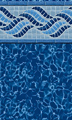 In-ground swimming pool liner Summerwave Deep Blue Fusion